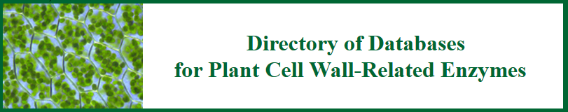 directoryofdatabasesforplantcellwallrelatedenzymes